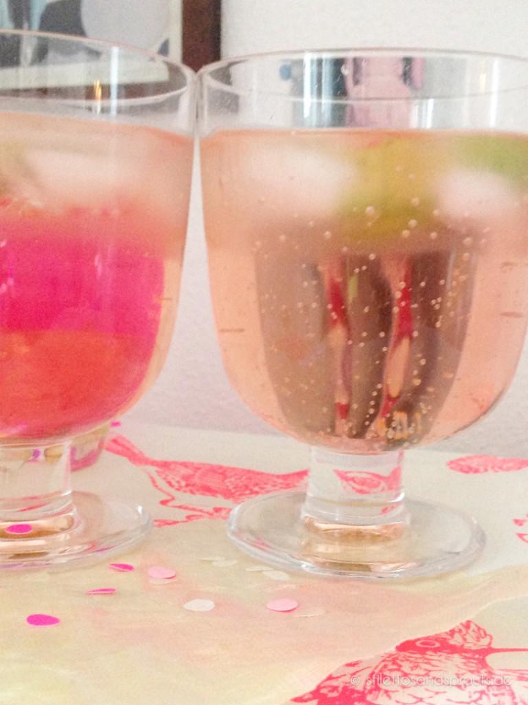Pink Drink mit Gurke – Aperitivo Rosato mit Gurke und Tonic Water