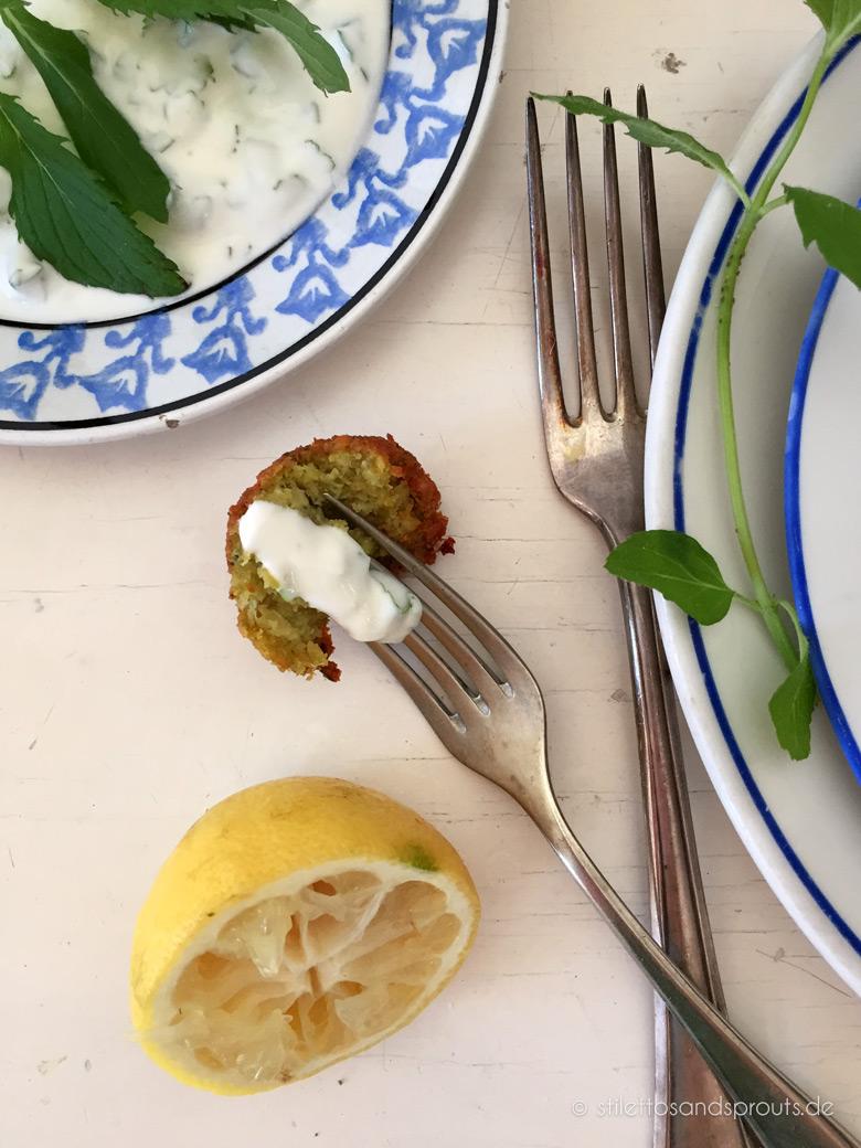 Falafel mit Joghurt-Minz-Sauce