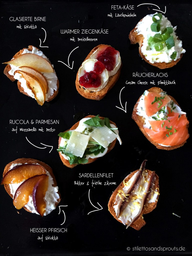 Crostini Party – allerlei Crostini Variationen