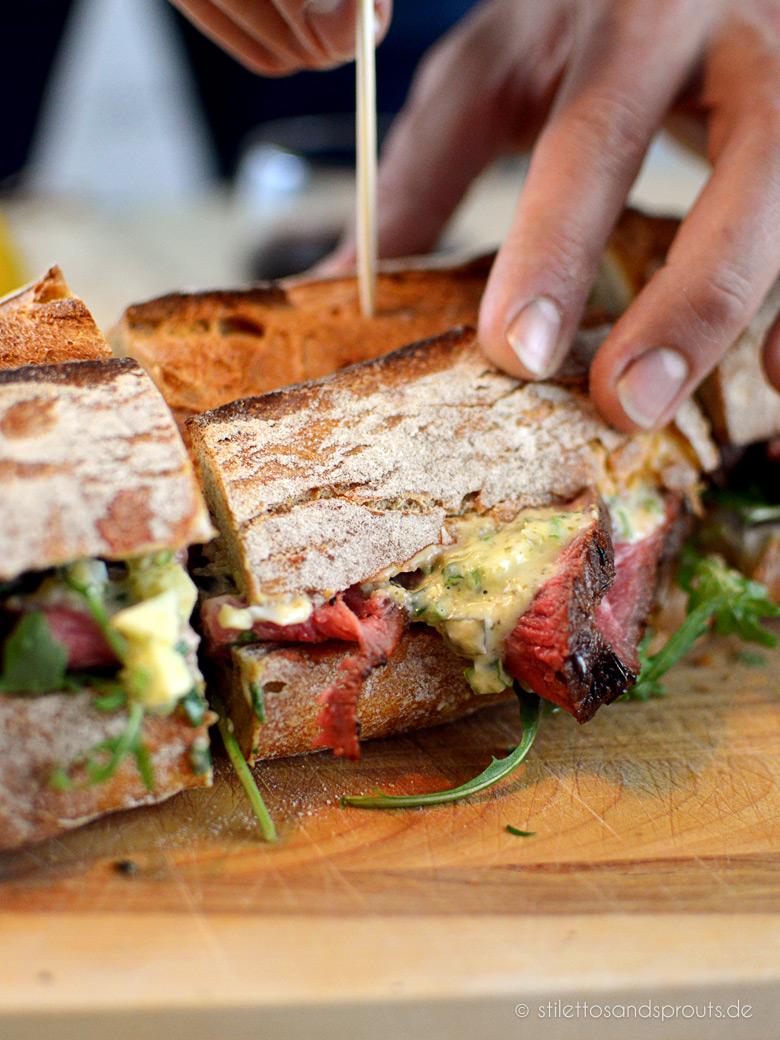 Roastbeef Sandwich mit Apfel-Remoulade