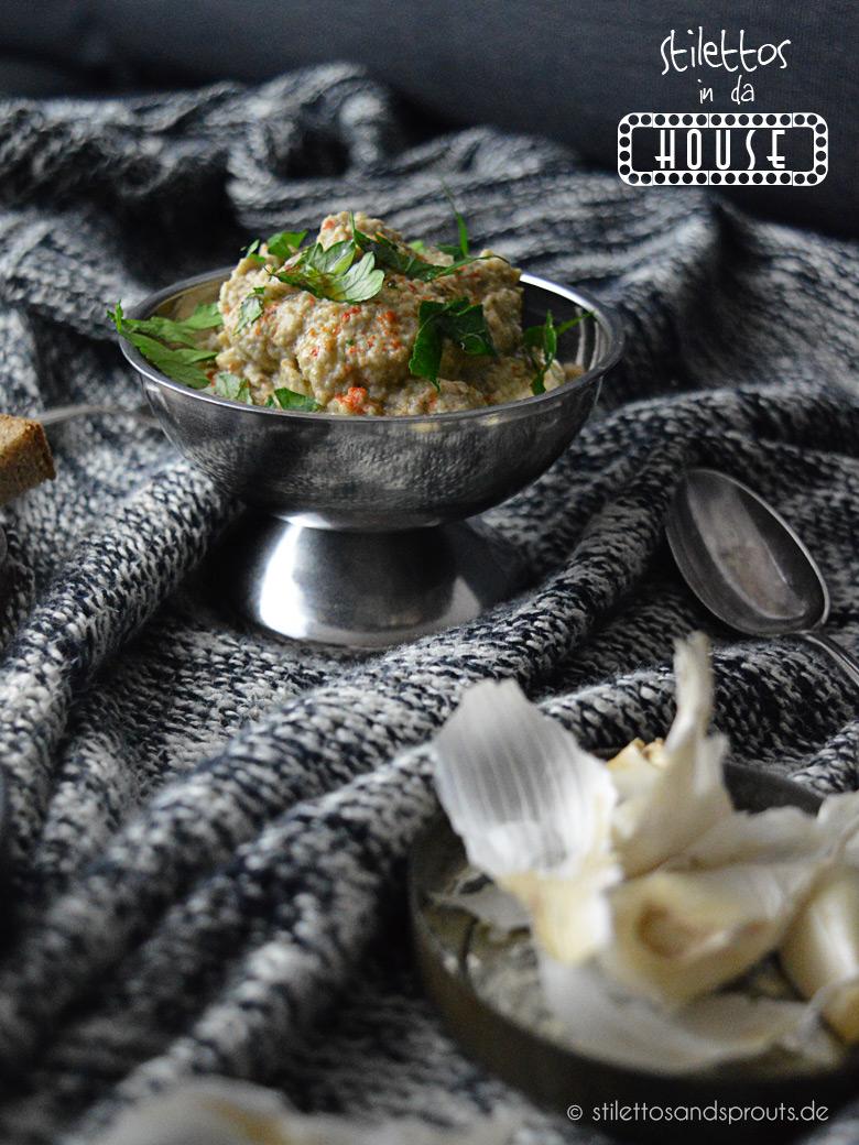 Stilettos in da house – Kochen nach Farben: Grau – Baba Ganoush und Leberwurst