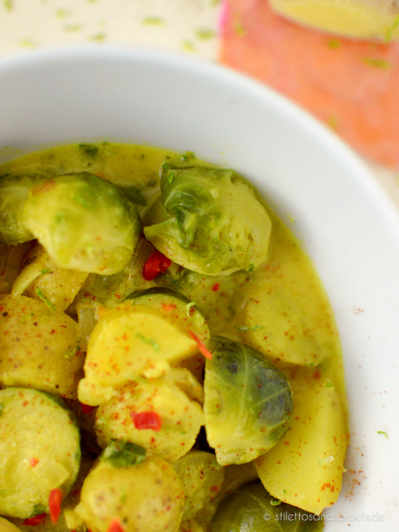 Veganes Rosenkohl-Curry