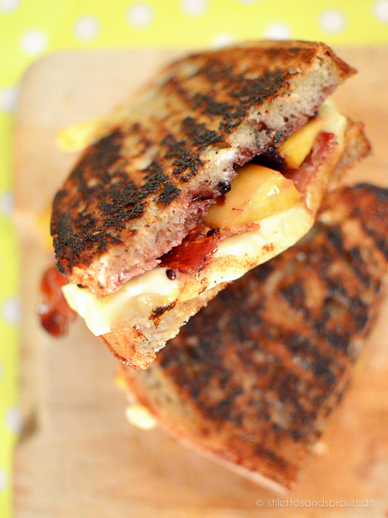 Grilled Cheese Sanwich Peach and Bacon