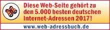 Ausgezeichnet als einer der besten Blogs in Deutschland im Web-Adressbuch 2017