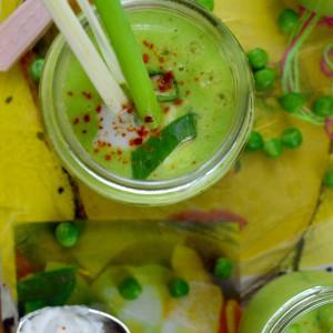 Exotische Erbsensuppe mit Kokosmilch