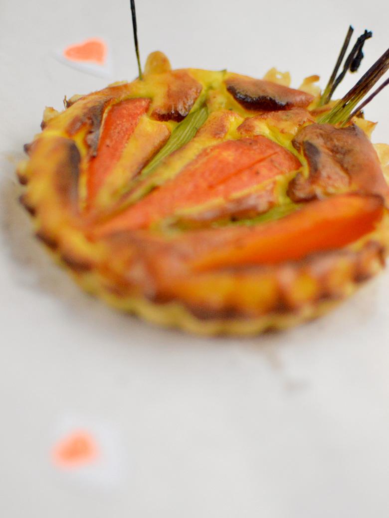 Möhren-Mini-Quiches