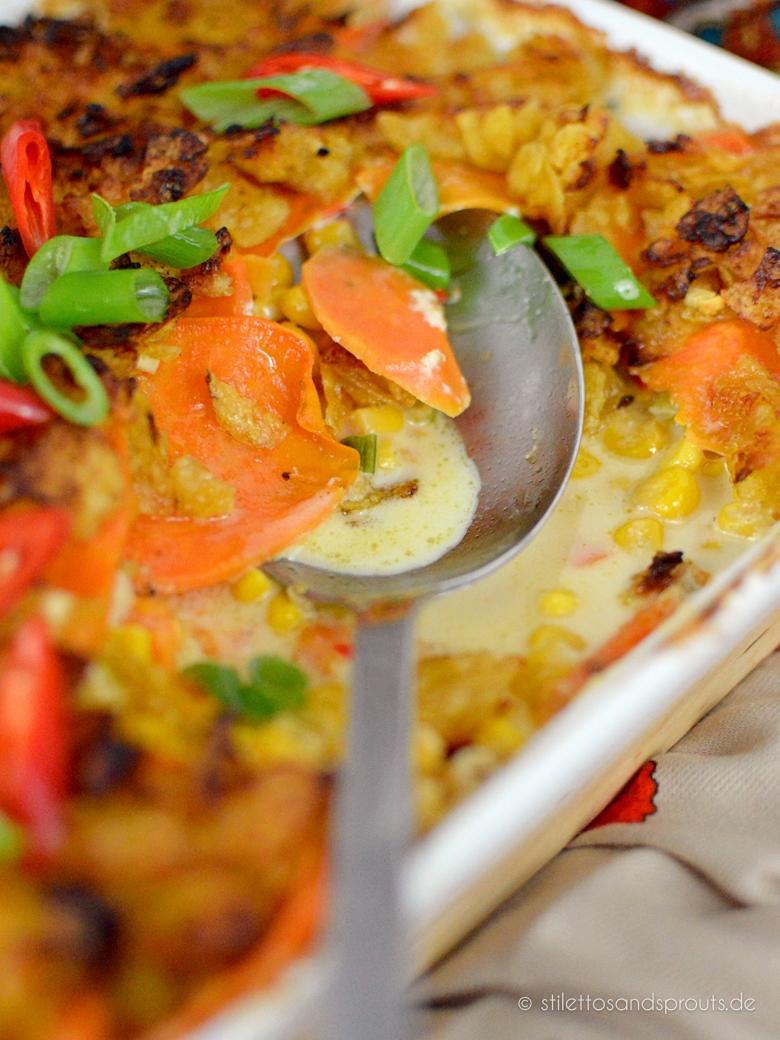Süßkartoffel-Auflauf vegetarisch