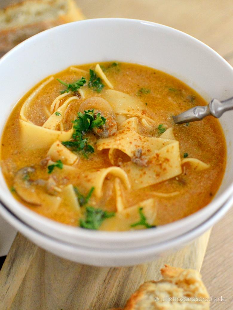 Boeuf Stroganoff Suppe