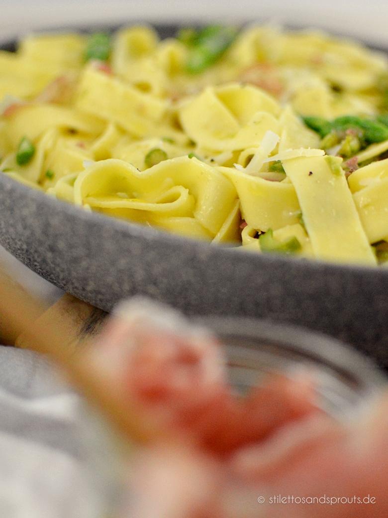 Jamie Oliver Pasta mit grünem Spargel