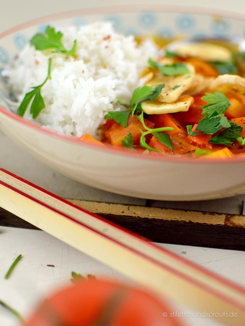 Einfaches Erdnuss-Kürbis-Curry
