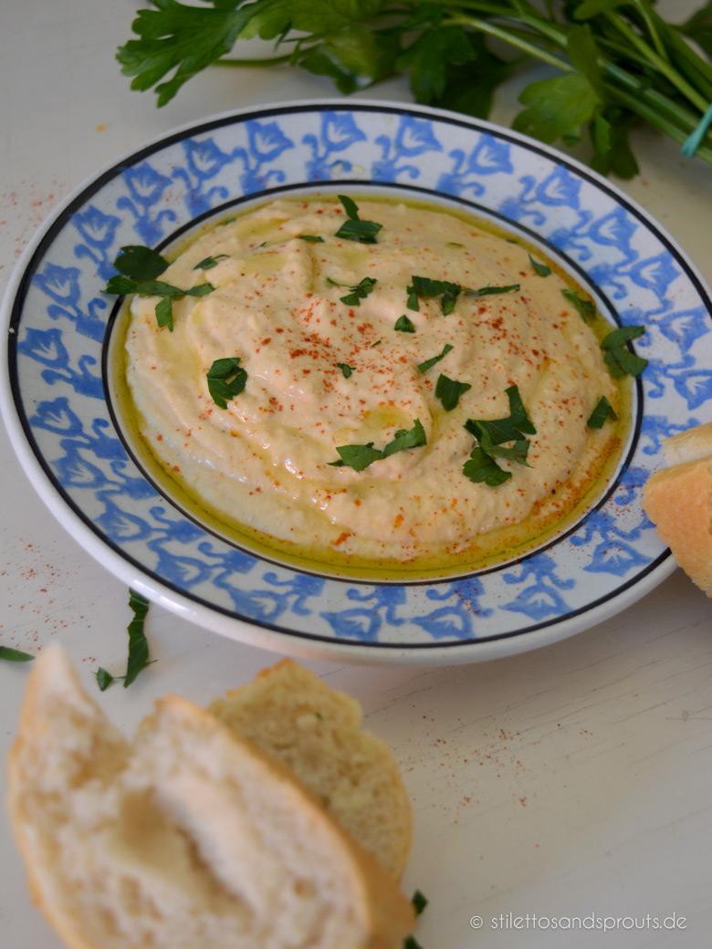 Rezept für cremigen Hummus mit Joghurt