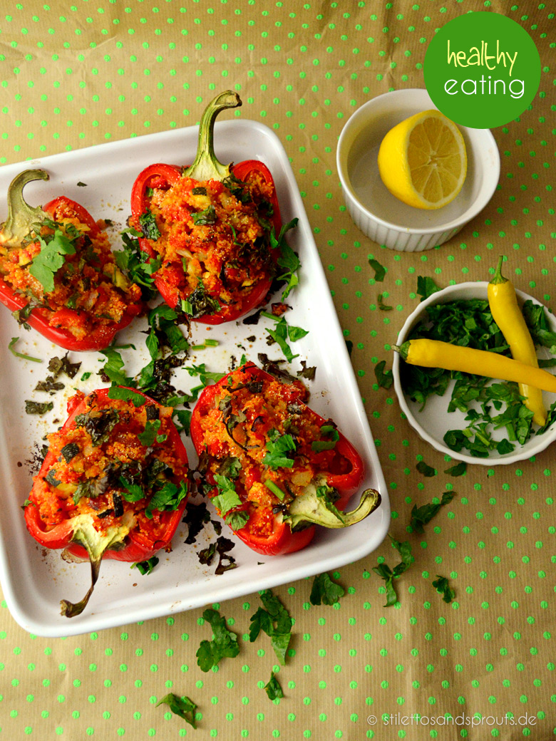Vegan Stuffed Peppers Nach Jamie Oliver Stilettos Sprouts