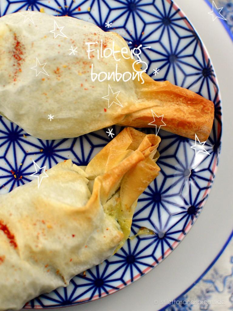Yufka-Bonbons mit Spinat und Feta