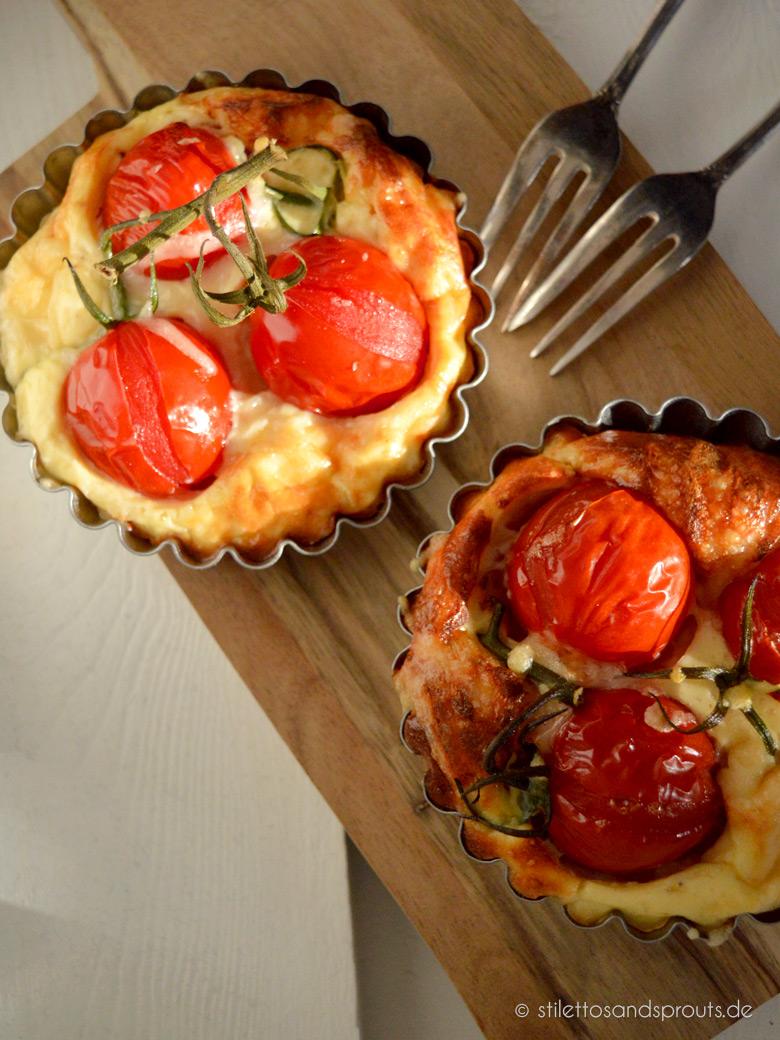 Tomaten-Tartelettes mit Ziegenkäse