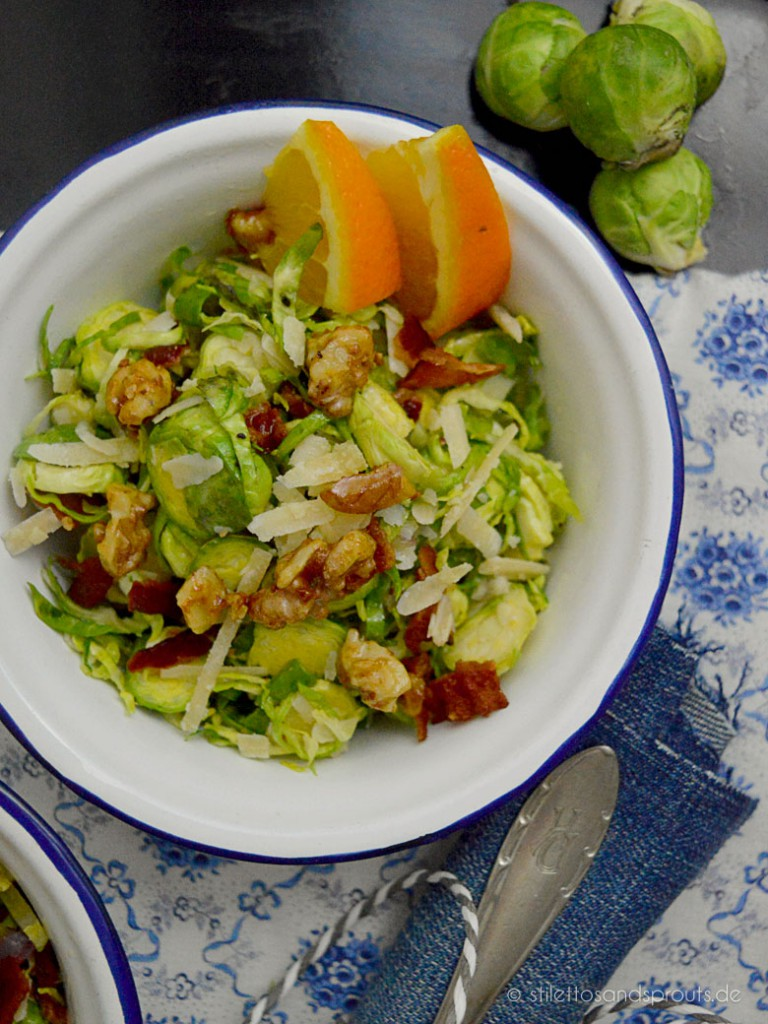 Brussels Sprouts Salat mit Bacon