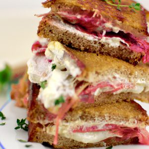 Rhabarber Grilled Cheese Sandwich