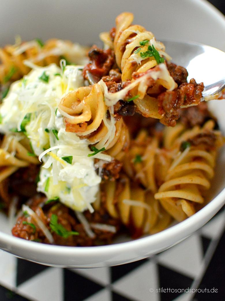 Schnelle Lasagne Bolognese