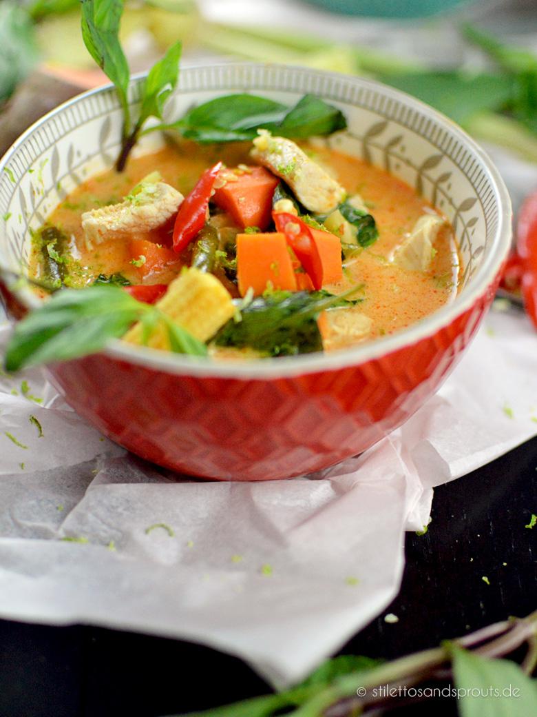 Rotes Thai Curry Mit Süßkartoffeln Stilettos Sprouts