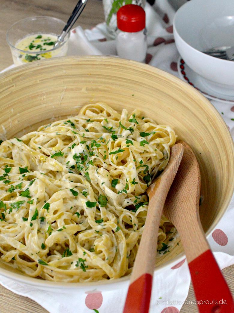 Alfredo Pasta   Stilettos & Sprouts