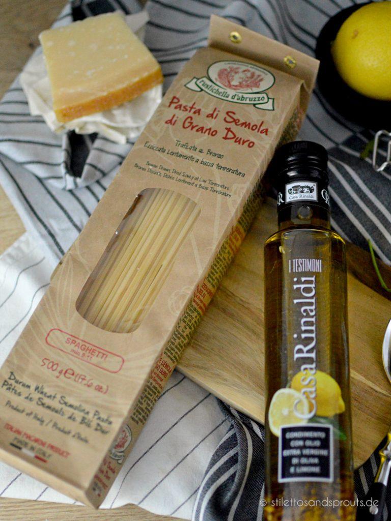 Die richtige Pasta und ein mit Zitrone aromatisiertes Olivenöl sind wichtig