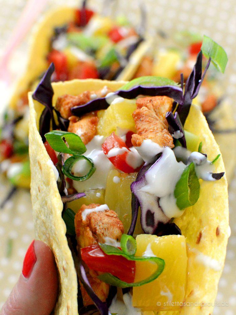 Mexikanischer Street Food Klassiker: Chicken Tacos