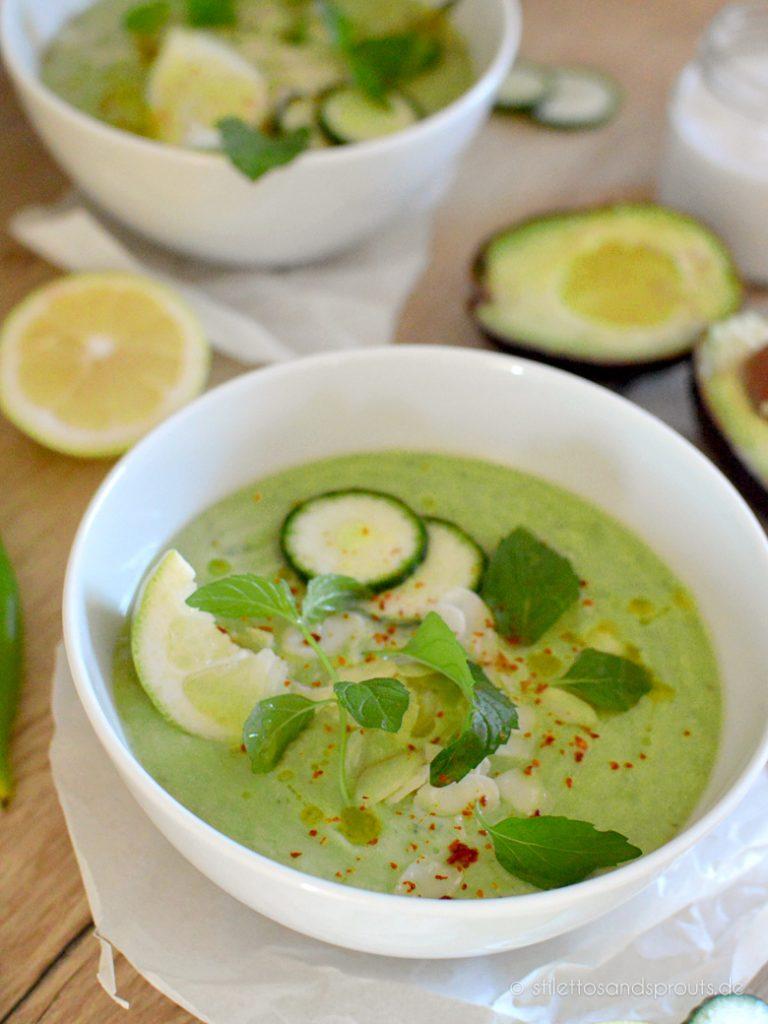 Kalte Gemüsesuppe ist im Sommer ideal