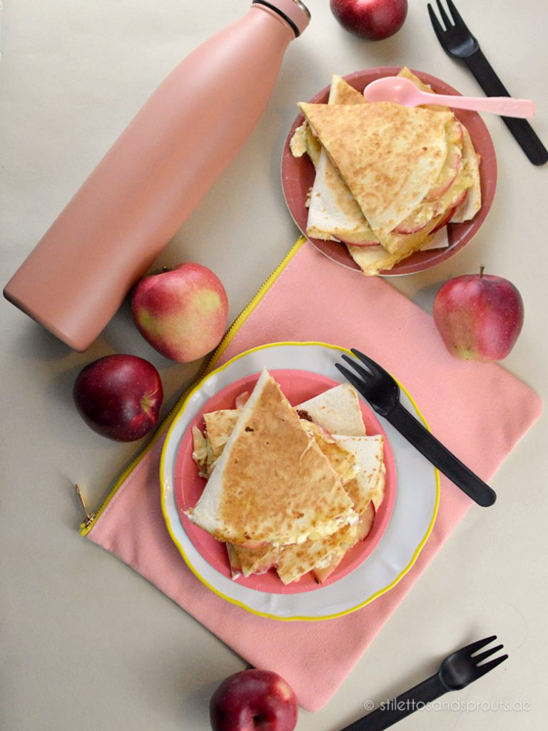 Apple Quesadillas mit Gouda und Bacon