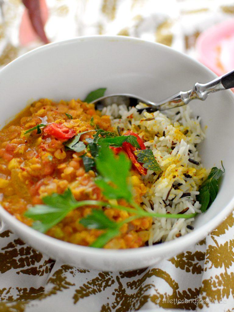 Aromatisches Curry mit Linsen