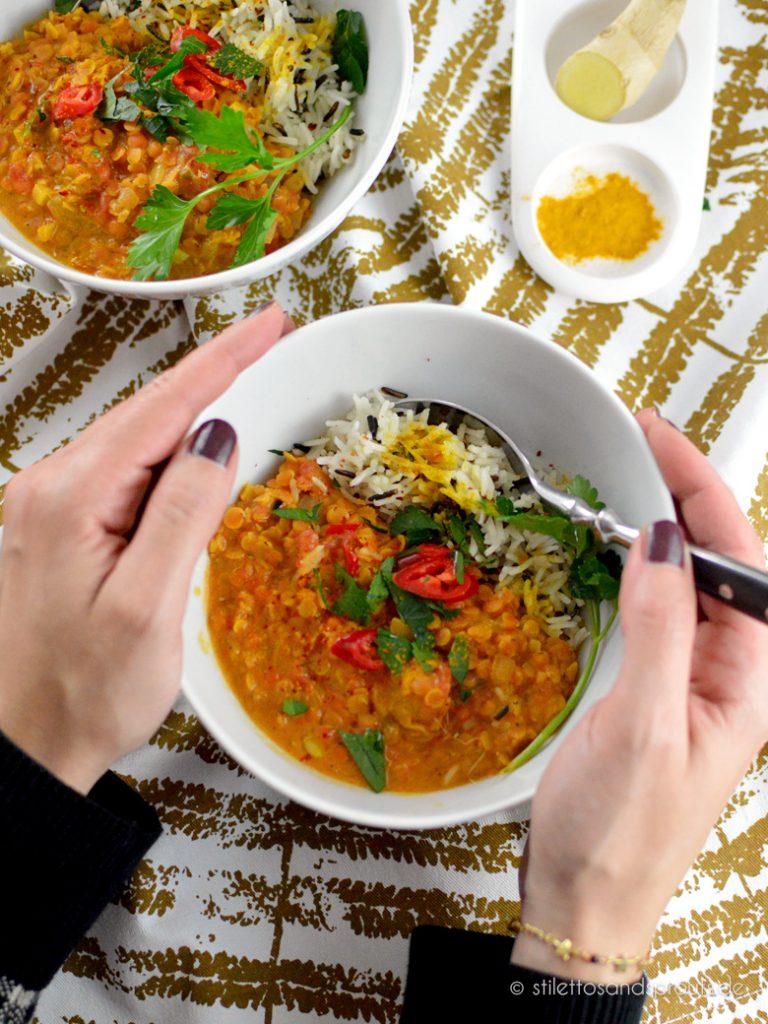 Veggie Curry mit roten Linsen