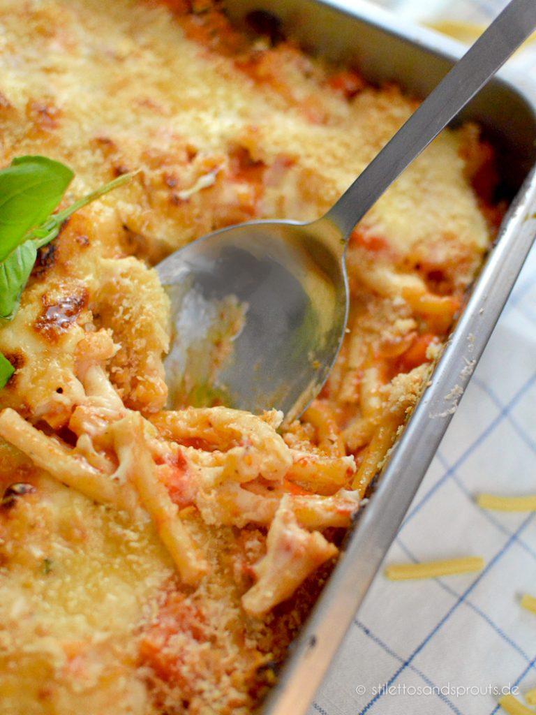 Italienischer Nudelauflauf vegetarisch