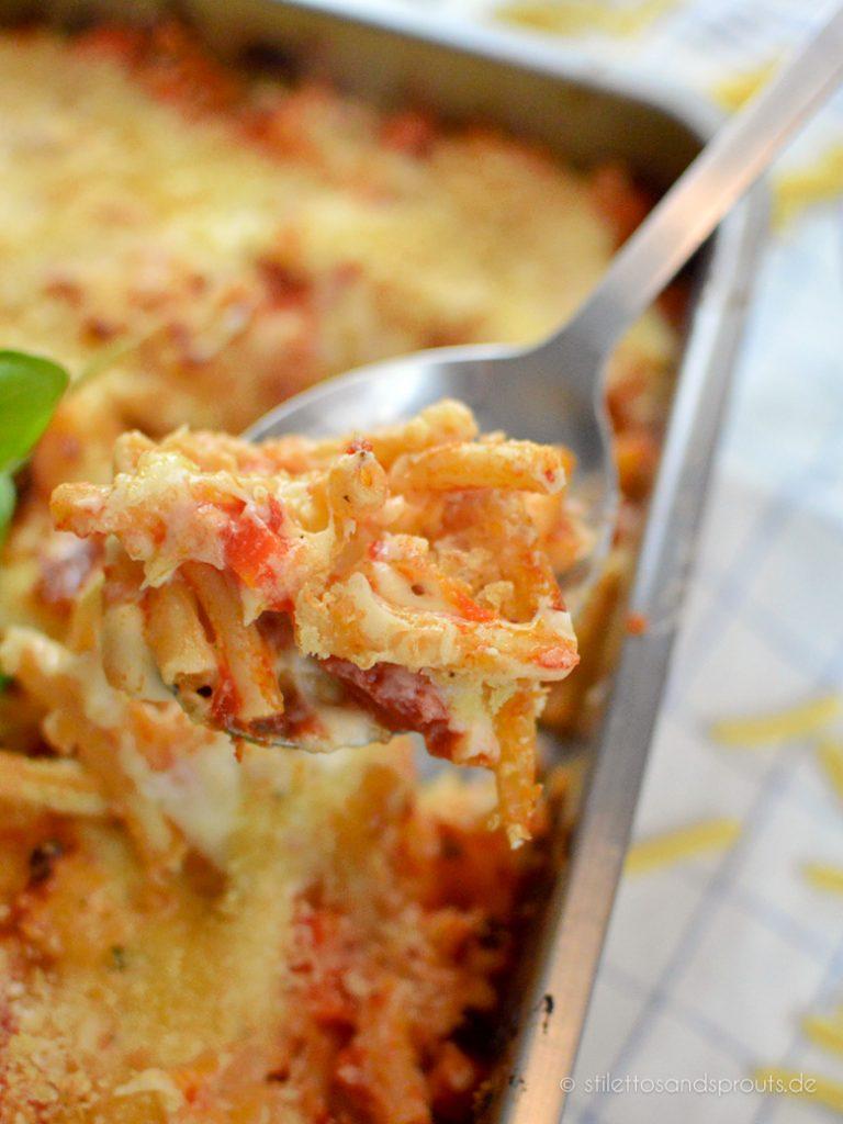 Pasta Bake aus dem Ofen
