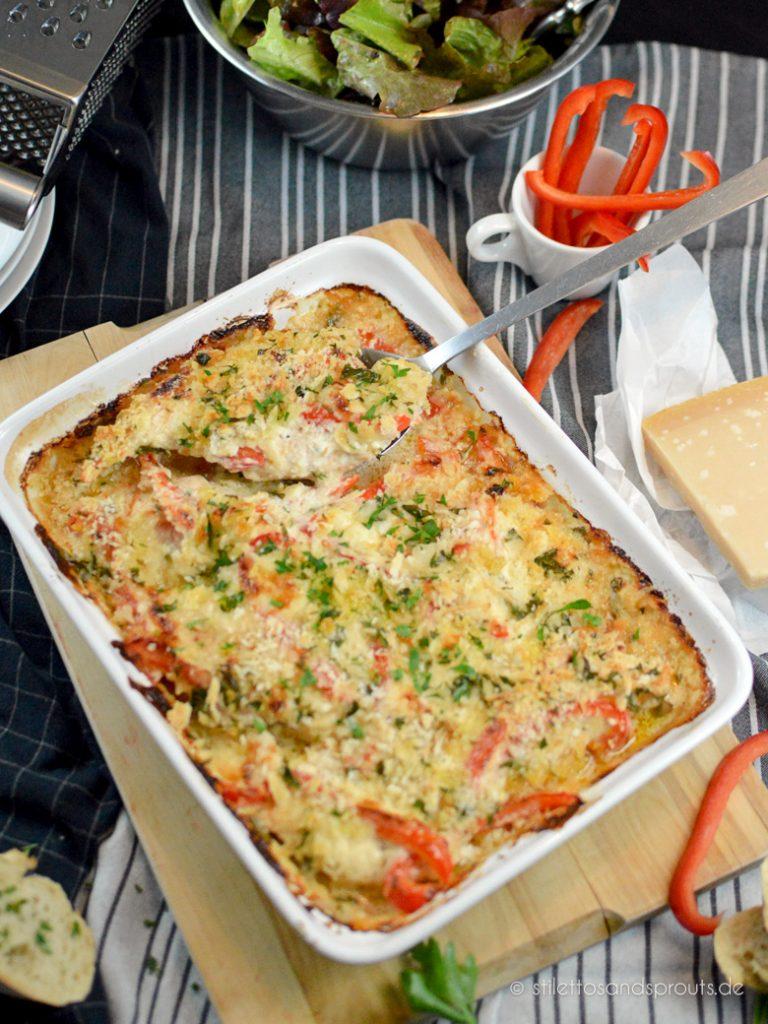 Hähnchenfleisch zart gegart im Ofen