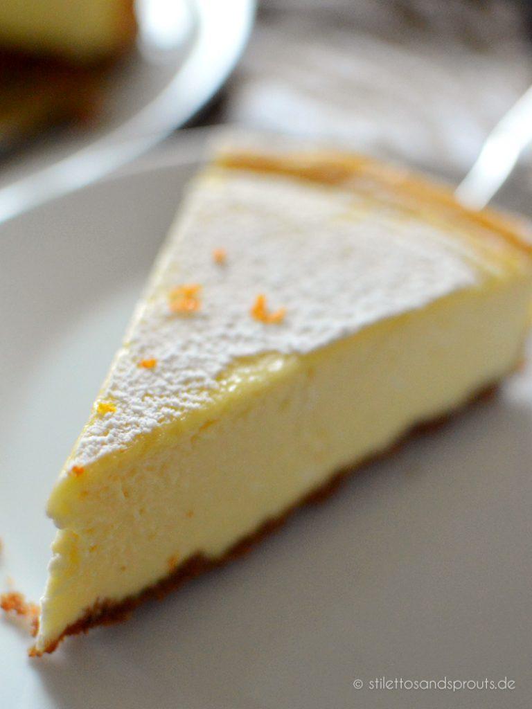 Der Kuchen wird mit italienischem Ricotta statt Quark gemacht
