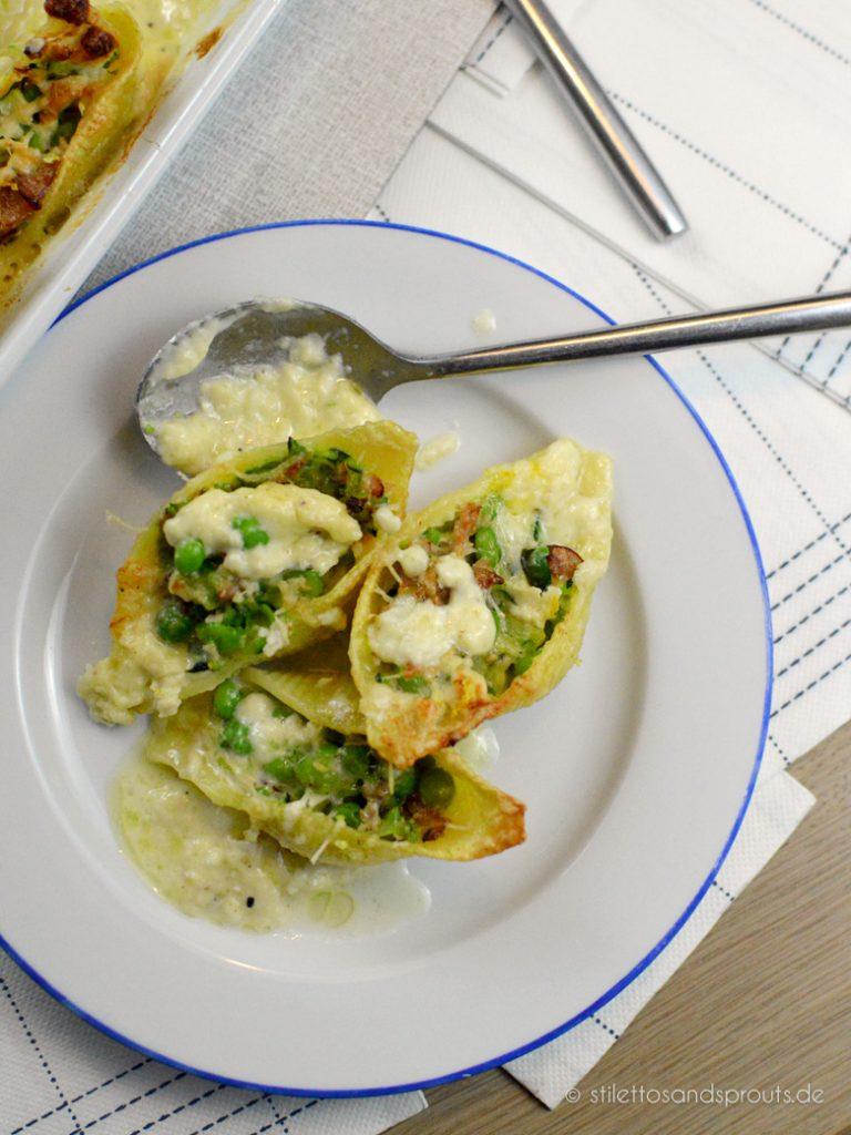 Muschel Pasta mit Käsesauce