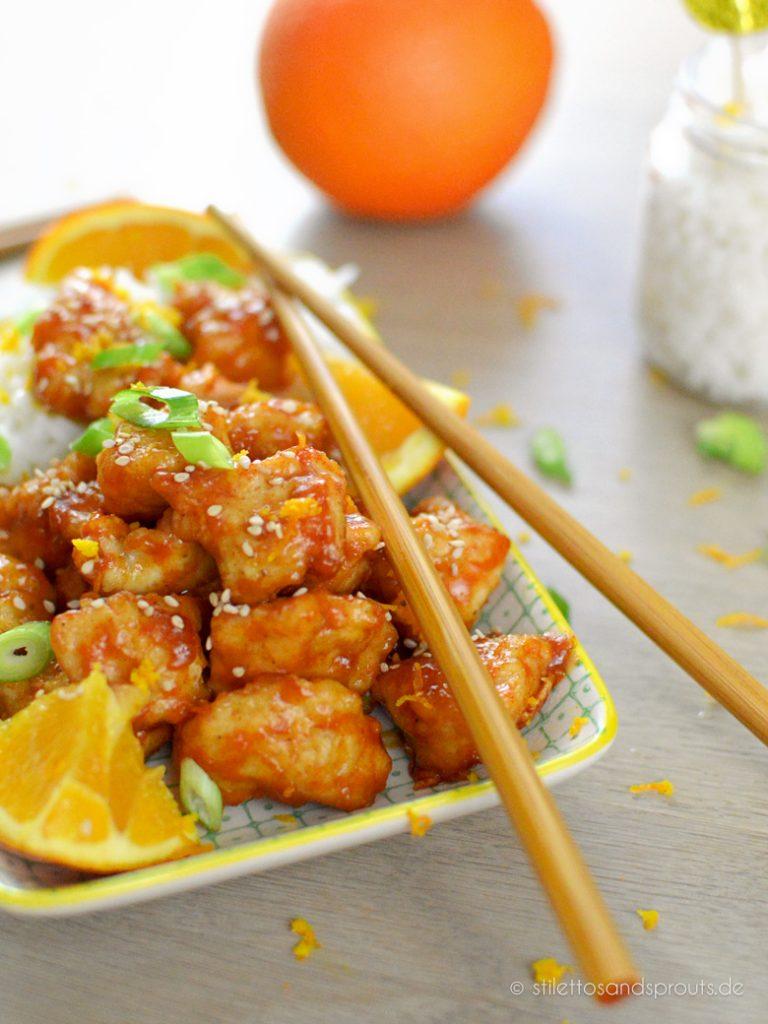 Chinesisches Orange Chicken