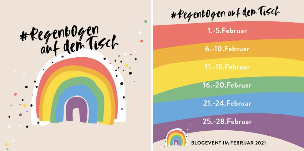 Blogevent Regenbogen Auf dem Tisch