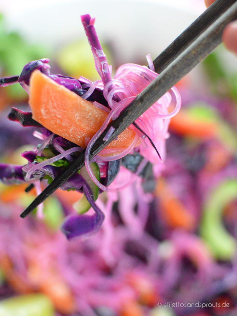 Glasnudelsalat mit Gemüse