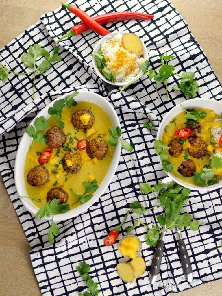 Curry Hackbällchen