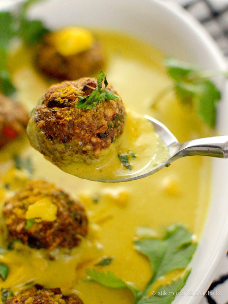 Indische Curry Meatballs