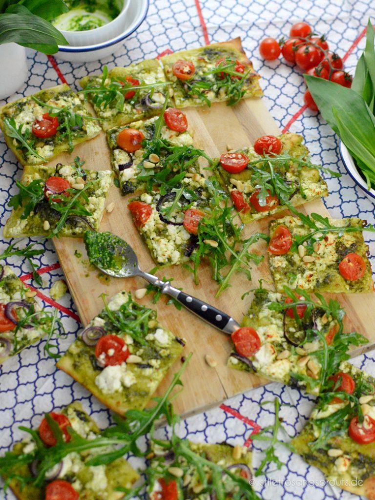 Frühlingsrezept: vegetarischer Flammkuchen