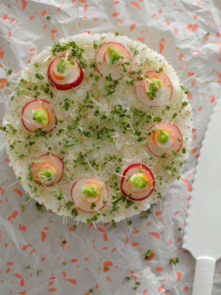 Sushi als Torte
