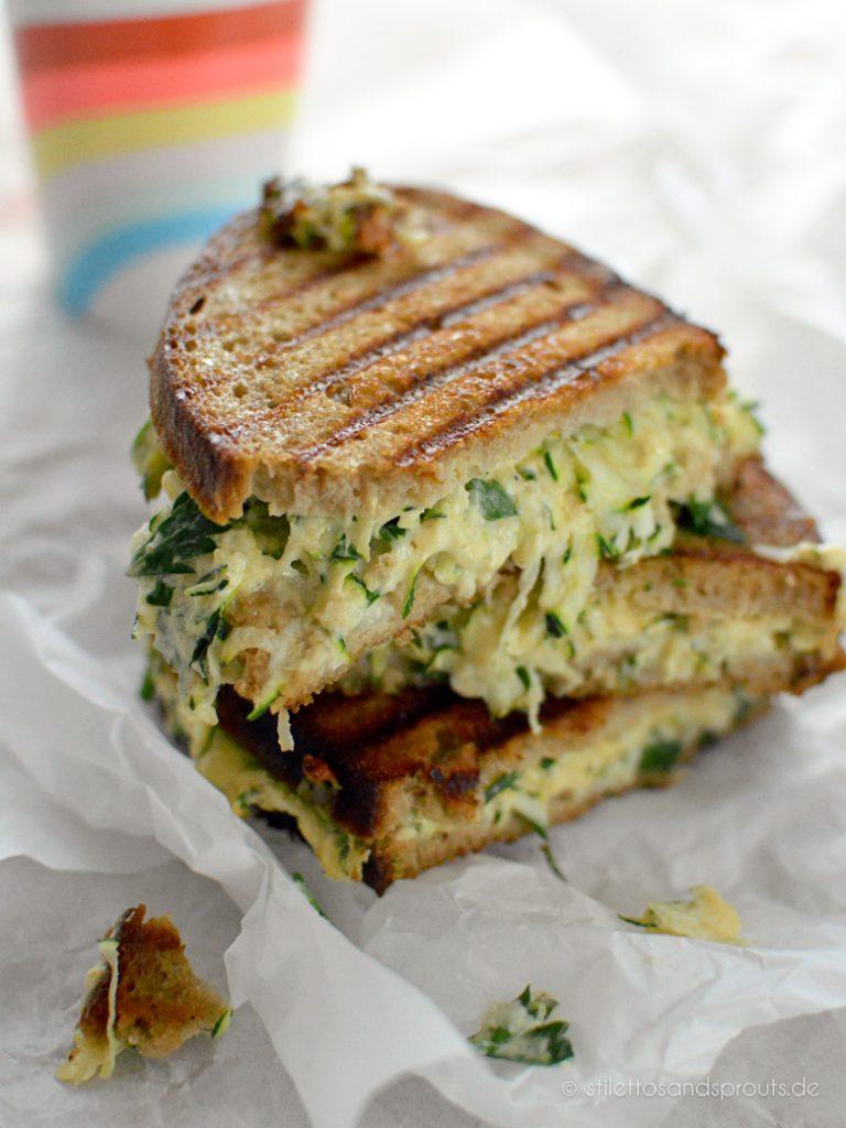 White BBQ Veggie Grilled Cheese Sandwich