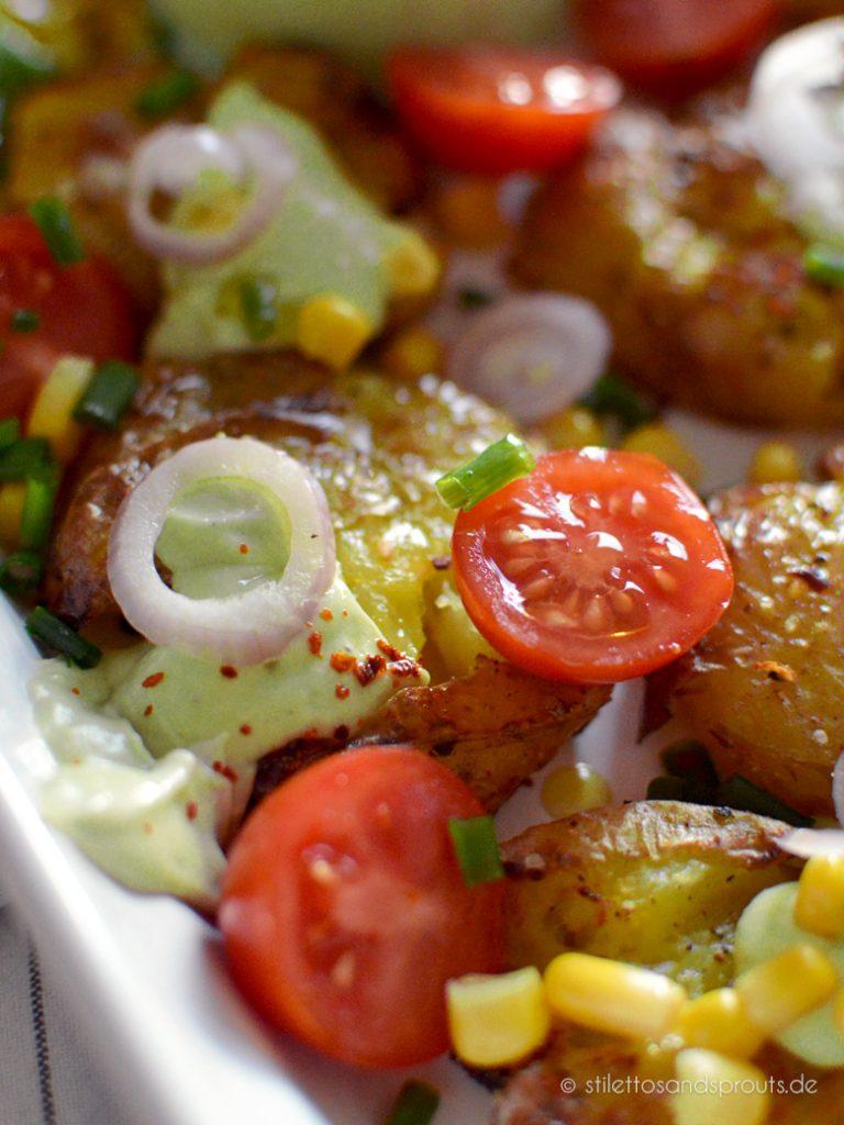 Stampfkartoffeln als Salat