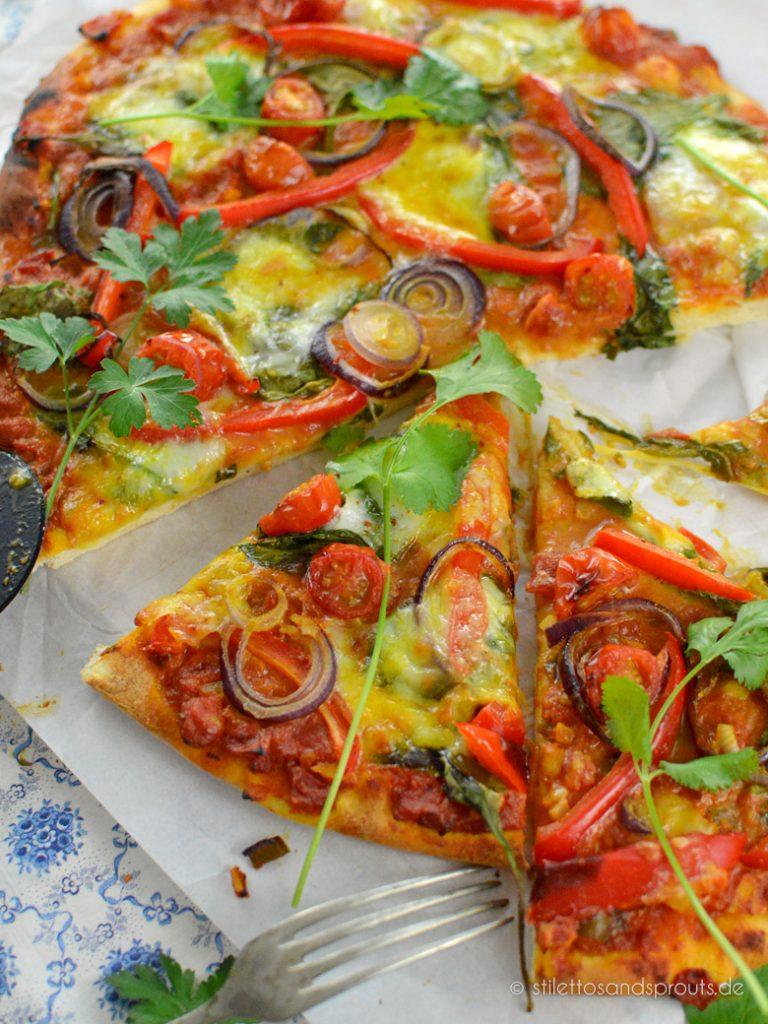 Tikka Masala Pizza indischer Art