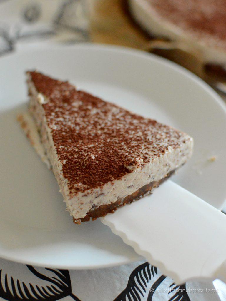 No Bake Eiskaffee Cheesecake