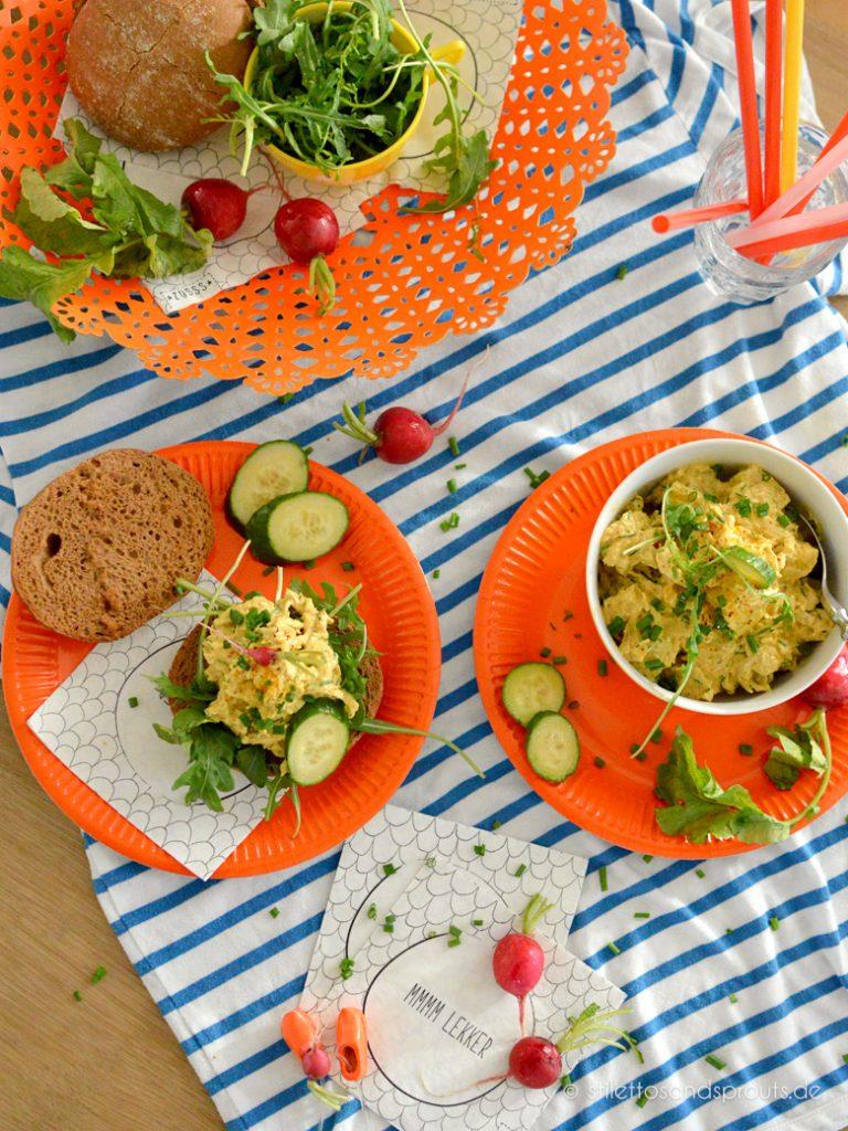 Curry Hühnchen Salat