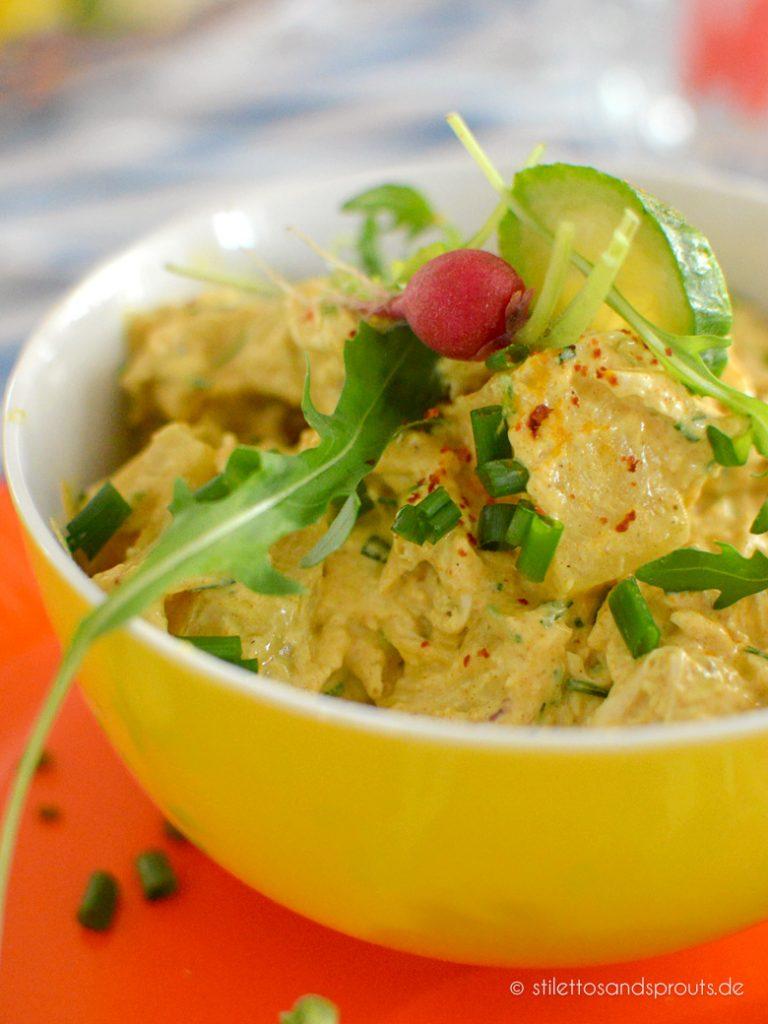 Curry Hähnchen Salat