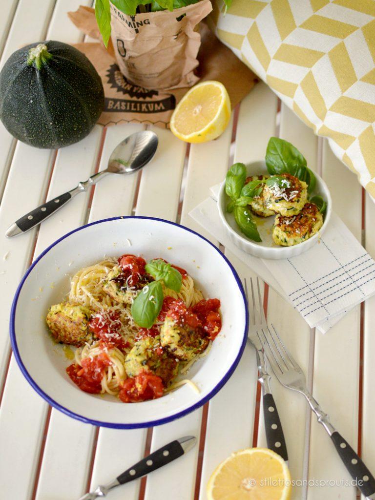Vegetarische Zucchini Bällchen