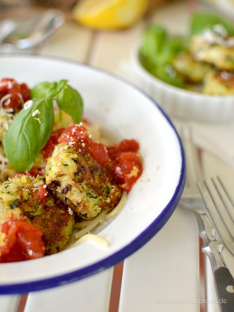 Fleischbällchen aus Zucchini und Ricotta
