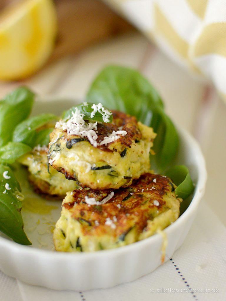 Veggie Zucchini Bällchen mit Ricottta